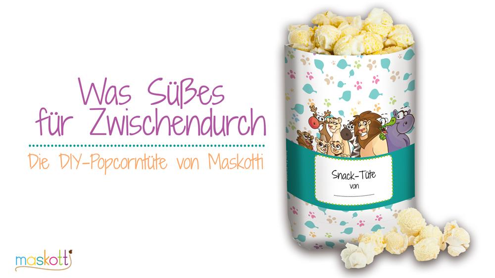 Maskotti-Popcorn Tüte
